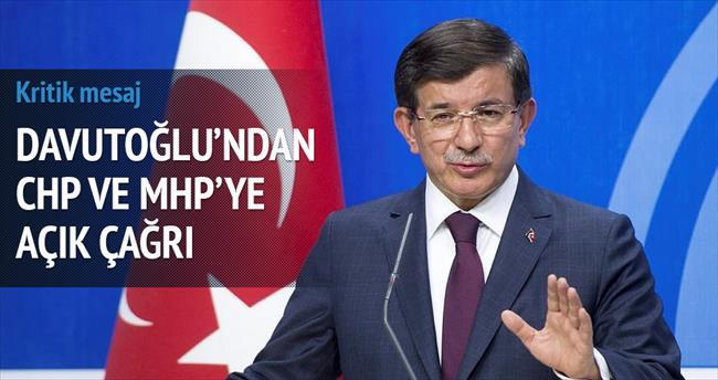 Davutoğlu'ndan CHP ve MHP'ye açık çağrı