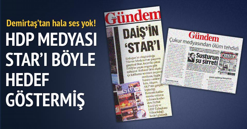 HDP medyası Star'ı böyle hedef göstermiş