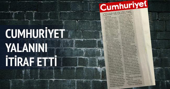 Cumhuriyet Sabah-ATV Grubu'ndan özür diledi