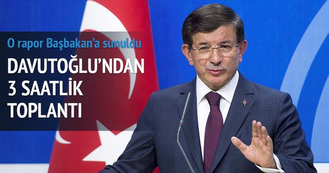 Başbakan Davutoğlu seçim stratejisi toplantısı yaptı