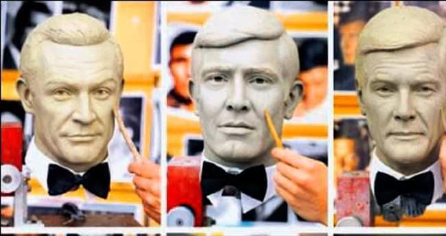 Bond'lar Madame Tussauds'da buluştu