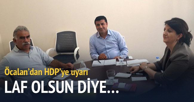 Öcalan'dan HDP'ye: Hal hatır sormak için gelmeyin