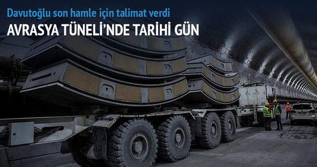 Avrasya Tüneli'nde tarihi gün