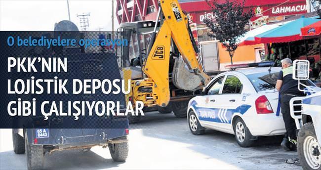PKK'lı belediyelere 'lojistik' operasyonu