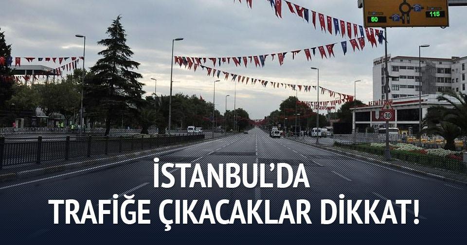 İstanbul'da bugün bu yollar kapalı!