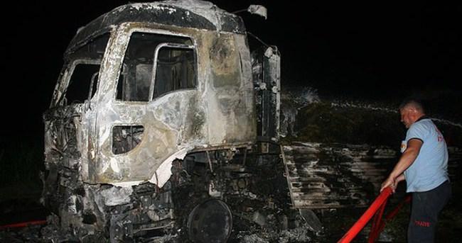 Iğdır'da teröristler tır yaktı