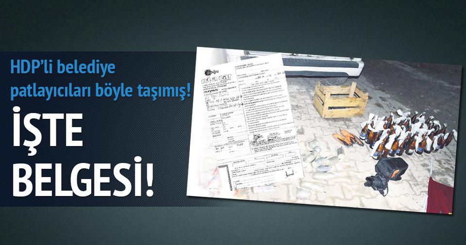 HDP'li belediye patlayıcıları işte böyle taşımış