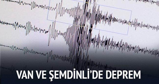 Van ve Şemdinli'de deprem