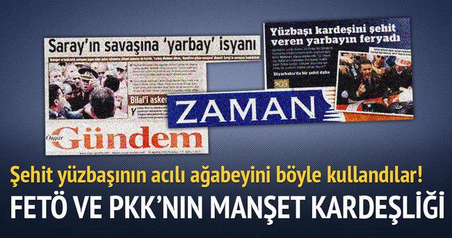 PKK'nın gazetesi şehit abisi yarbayı manşet yaptı