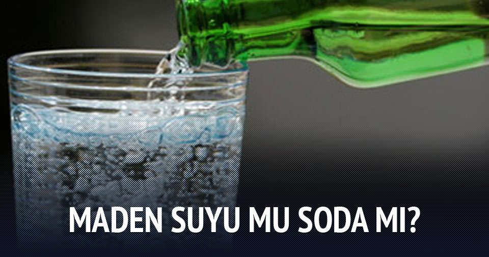 Maden suyu ile soda arasında fark nedir?