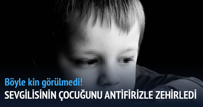 Çocukların yemeğine antifriz karıştırdı