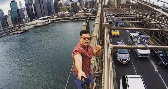 Köprü üstünde selfie çekti tutuklandı