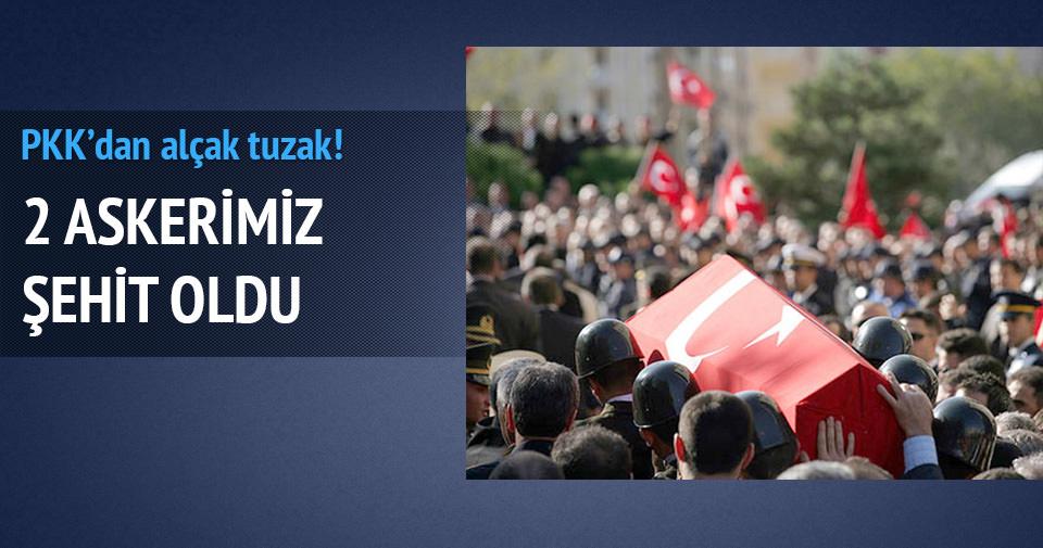 PKK'dan hain tuzak! 2 şehit