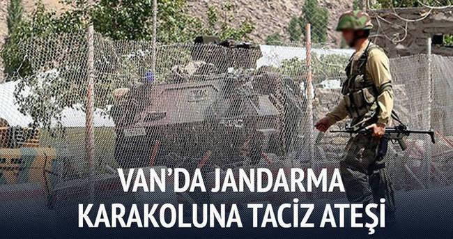 Van'da jandarma karakoluna taciz ateşi