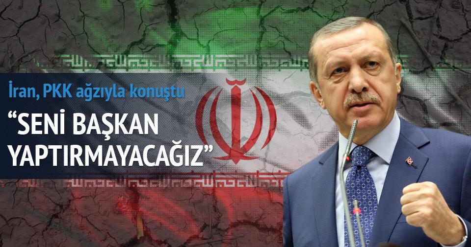 İran, PKK ağzıyla konuştu