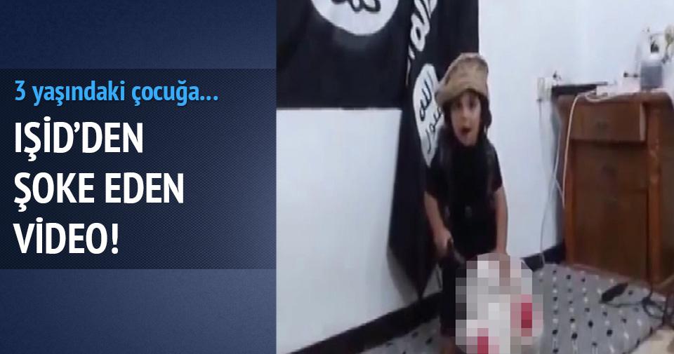 IŞİD'den şok video!... 3 yaşındaki çocuğun eline bıçak verip!...