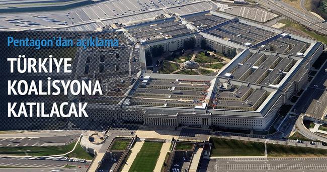 Pentagon: Türkiye koalisyona katılacak!