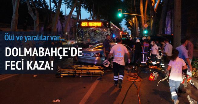 Dolmabahçe'de feci kaza