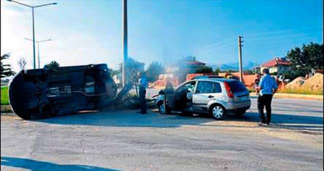 Isparta'da kaza: 5 kişi yaralandı