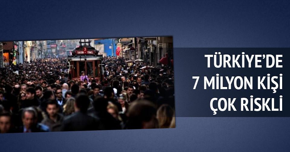 Türkiye'de 7 milyon kişi çok riskli!