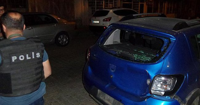Roketli saldırıda 2 polis yaralandı