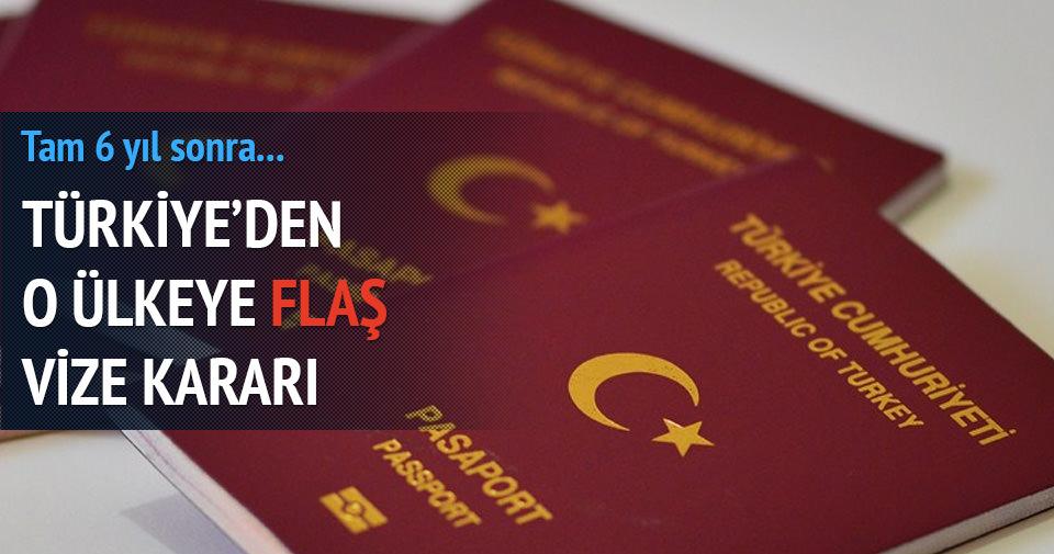 Türkiye'den flaş vize kararı!