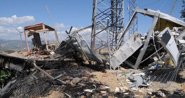 Tunceli'de PKK'lılar baz istasyonuna saldırdı