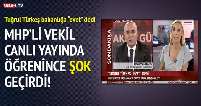 Türkeş'in kararını canlı yayında öğrenince şoke oldu!