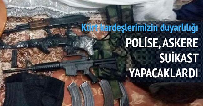 Mardin'in Kızıltepe ilçesinde 7 PKK'lı silahlarıyla birlikte yakalandı