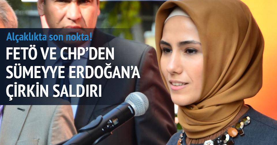 FETÖ-CHP ortaklığıyla Sümeyye Erdoğan hakkında çirkin kampanya