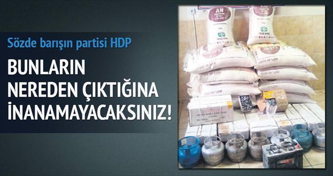 HDP'li başkan adayının işyeri cephanelik gibi