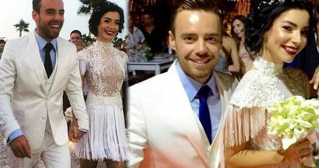 Merve Boluğur ile Murat Dalkılıç İzmir'de de düğün yaptı