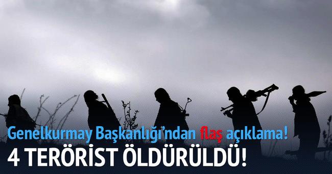 Şırnak'ta 4 terörist öldürüldü