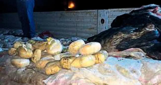 Patates çuvalından 90 kilo esrar çıktı