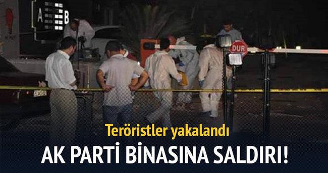 AK Parti binasına saldırı: Teröristler yakalandı