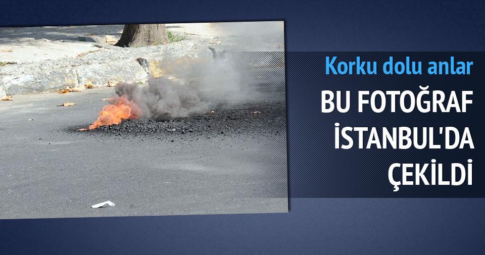 Beşiktaş'ta yeraltındaki elektrik hattı alev alev yandı