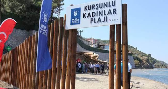 Bursa'da beklenen kadın plajı açıldı!