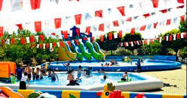 Portatif havuzları çocuklar çok sevdi