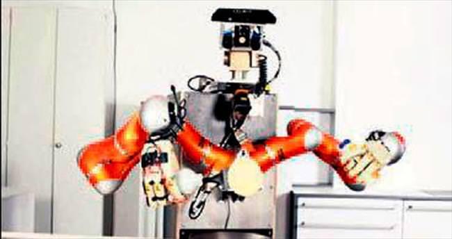 Yardım almadan pankek yapan robot
