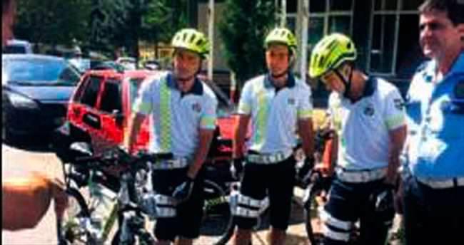 Bisikletli polisler mesaiye başladı