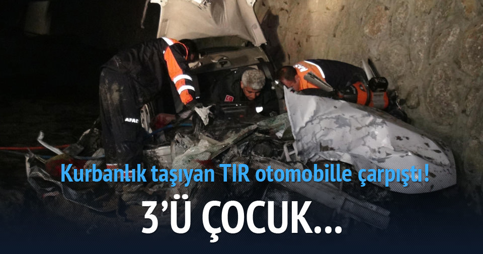 Erzincan'da feci kaza: 5 ölü!
