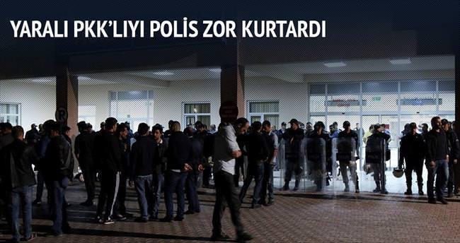 Yaralı PKK'lıyı polis zor kurtardı