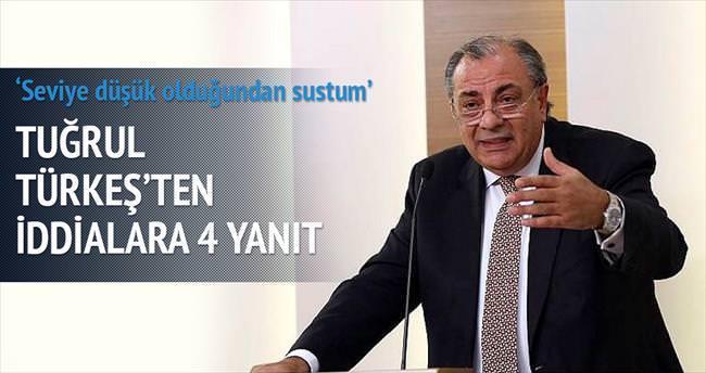 Tuğrul Türkeş'ten iddialara 4 yanıt