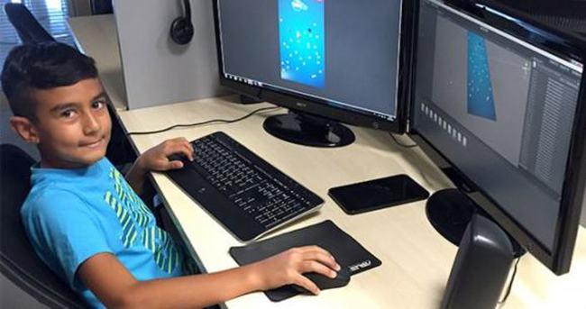 11 yaşındaki Ömür Efe oyun geliştirdi