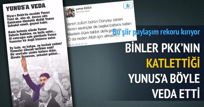 Binlerce kişi Yunus Koca için aynı tweeti attı