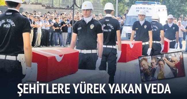Şehit polislere yürek yakan veda