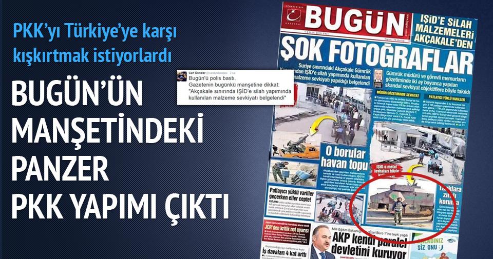 Bugün gazetesi IŞİD dedi, YPG çıktı!