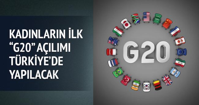 Kadınlar ilk G20 açılımını Türkiye'de yapacak