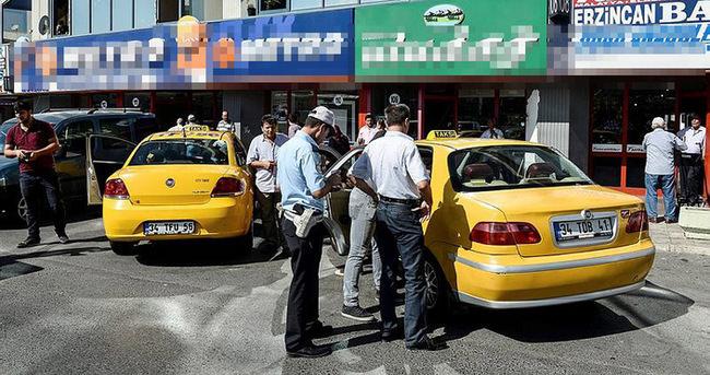 Otogarda taksicilere uygulama