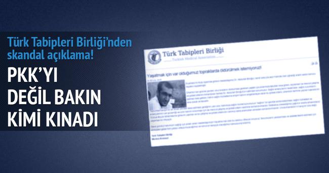 Türk Tabipleri Birliği'nden skandal açıklama!